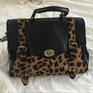 ASOS Leather Leopard satchel bag purse